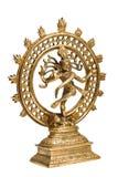 dans isolerad staty för lordnatarajashiva royaltyfri fotografi