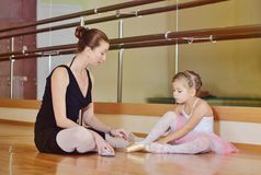 Dans l'école de ballet Images stock