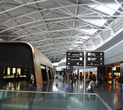 Dans l'aéroport Photo stock