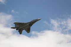 Dans l'air-MIG 29 Photos libres de droits