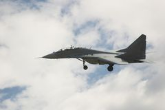 Dans l'air-MIG 29 Images stock