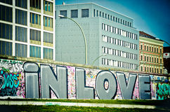 Dans l'amour à Berlin photos libres de droits