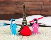 Dans l'amour à Paris Photographie stock