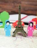 Dans l'amour à Paris Images stock