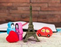 Dans l'amour à Paris Photographie stock libre de droits