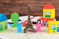 Dans l'amour à Paris Images libres de droits