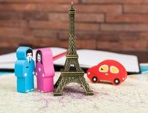Dans l'amour à Paris Photo stock