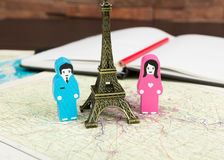 Dans l'amour à Paris Image libre de droits