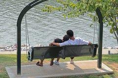 Dans l'amour Image stock