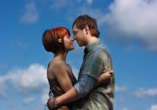 Dans l'amour Photo stock