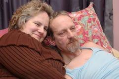 Dans l'amour. Images libres de droits