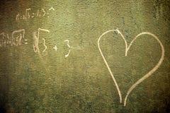 Dans l'amour avec des maths Photographie stock