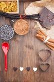Dans l'amour avec du chocolat Photographie stock