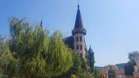 Dans l'amour avec le vent, le château de Ravadinovo - la Bulgarie Photographie stock libre de droits