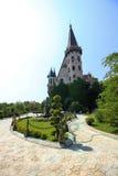 Dans l'amour avec le vent, le château de Ravadinovo - la Bulgarie Photographie stock