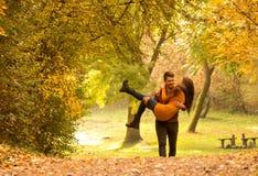 Dans l'amour avec un homme Photos stock