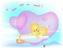 Dans l'amour souris bue Photographie stock libre de droits