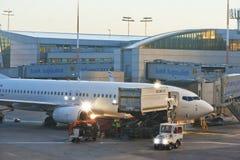 Dans l'aéroport Photographie stock libre de droits