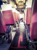 dans l'autobus sur la ville photo libre de droits
