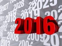 2016 dans l'avant illustration stock