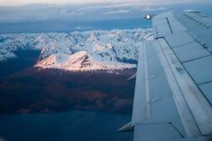 Dans l'avion Photos libres de droits
