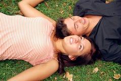 Dans l'herbe photo stock