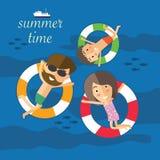 Dans l'heure d'été sur la plage Photo stock
