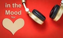 Dans l'humeur pour la musique Valentine Love d'amour Images libres de droits