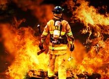 Dans à l'incendie Images stock