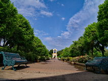 Dans la barrière de palais de Sanam Chandra Image stock