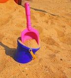 Dans la boîte de sable Photos libres de droits