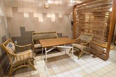 Dans la chambre de sauna Photographie stock