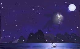 Dans la constellation de Sagittaire Photos libres de droits