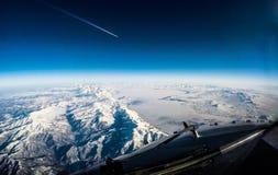 Dans la croisière au-dessus d'Erevan Photo stock