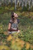 Dans la forêt d'automne photo stock