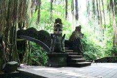 Dans la forêt de singe d'Ubud dans Bali Images libres de droits