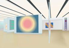 Dans la galerie d'art avec le résumé aucun cadres 9430-2 images stock