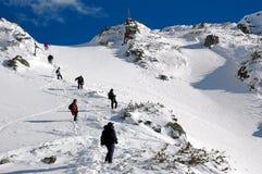 Dans la haute montagne Images libres de droits