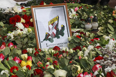 Dans la légion letton commémorative Image libre de droits