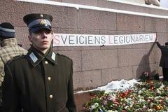 Dans la légion letton commémorative images libres de droits