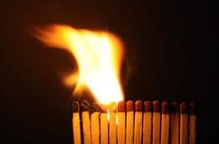 Dans la ligne de l'incendie Images libres de droits