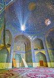 Dans la mosquée du madraseh de Chaharbagh, Isphahan, Iran photos libres de droits