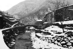 Dans la neige Photo libre de droits