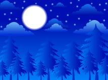 Dans la nuit de Noël illustration stock
