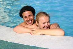 Dans la piscine Photo stock