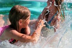 Dans la piscine Photo libre de droits