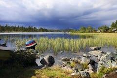 Dans la région sauvage de la Suède Image stock