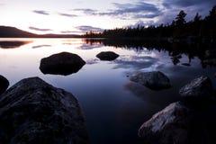 Dans la région sauvage de la Suède Photo stock
