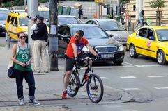 Dans la rue de Sofia Photographie stock libre de droits
