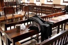 Dans la synagogue Ohel Yitzchak à Jérusalem Image libre de droits